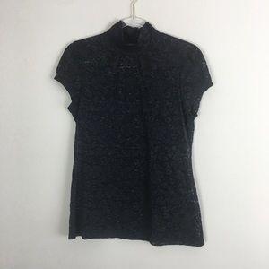 Express Size Large Black Lace Blouse L21